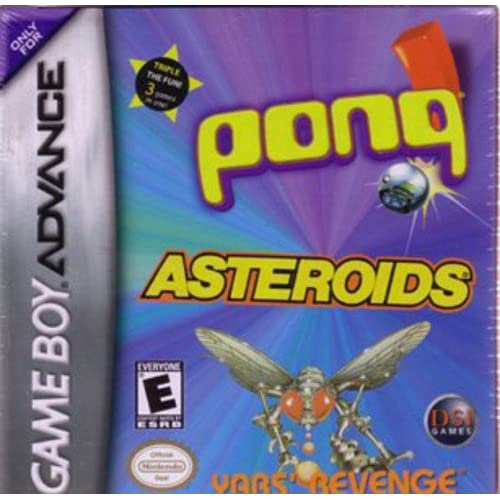 Asteroids/pong/yar's Revenge For GBA Gameboy Advance