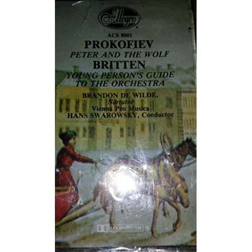 Image 0 of Peter And The Wolf: Young Person's Guide To The Orchestra Audio Cassette Prokofi