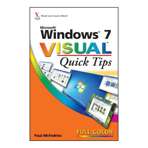 Windows 7 Visual Quick Tips By Mcfedries Paul Paperback Book