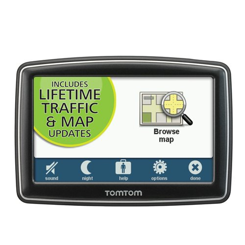TomTom XL 350TM 4.3-inch Portable GPS Navigator Lifetime Traffic And