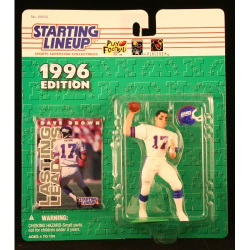 Dave Brown / New York Giants 1996 NFL Starting Lineup Action Figure &
