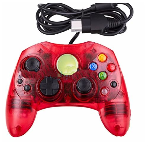 Image 0 of Xbox S-Type Controller Microsoft Xbox Original Wired Crystal Red