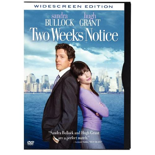 Two Weeks Notice Snapcase Widescreen On DVD With Sandra Bullock 2