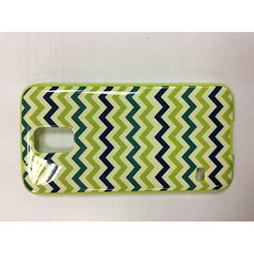 Image 0 of iConcepts Hardshell Case For Samsung Galaxy S5 Zigzag Waves Green/blue