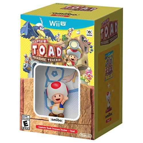 Captain Toad: Treasure Tracker Game And Toad Amiibo For Wii U