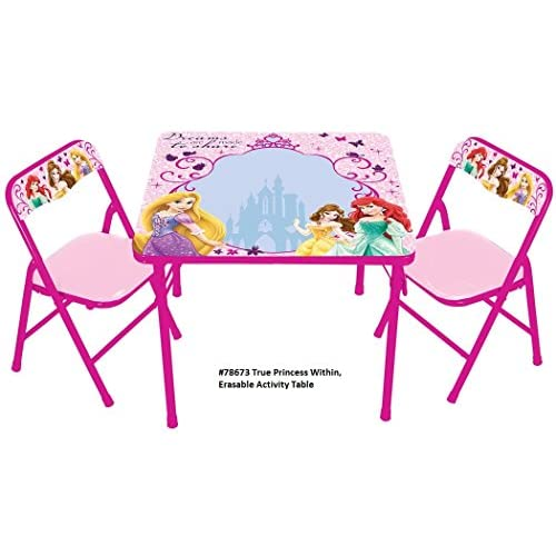 Disney True Princess Within Erasable Activity Table Set With 3 Markers Toy Play