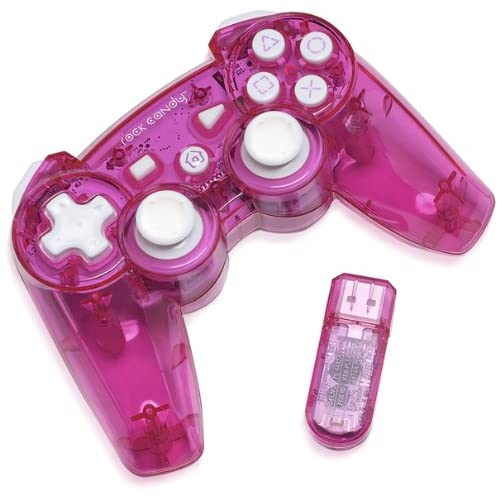 PDP Rock Candy Wireless Controller Pink For PlayStation 3 PS3 Gamepad