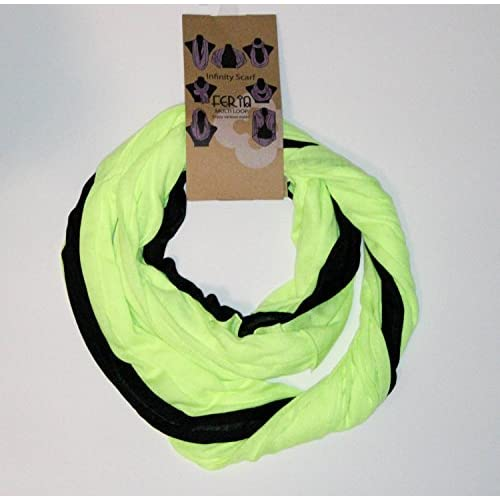 Feria Infinity Multiloop Scarf Black/Yellow