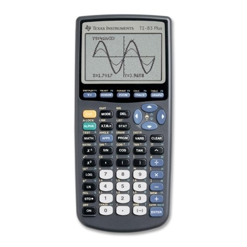 Texas Instruments Graphing Calculator Black Handheld Ti 83