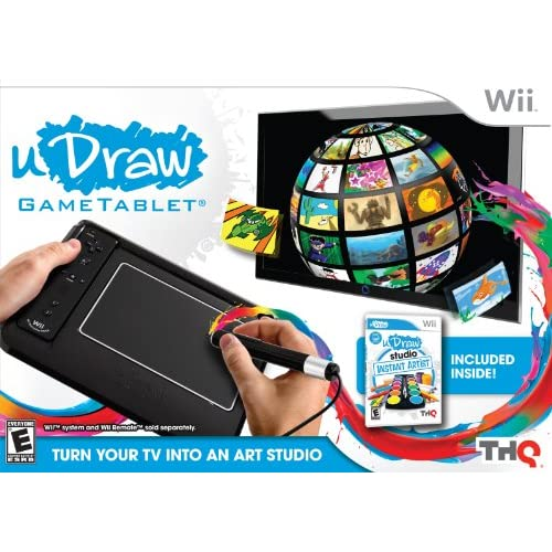 Image 0 of uDraw Game Tablet With uDraw Studio: Instant Artist Black Drawing WBH683 For Wii