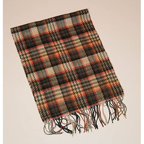Softer Than Cashmere Tan And Pink Plaid Scarf Multi-Color