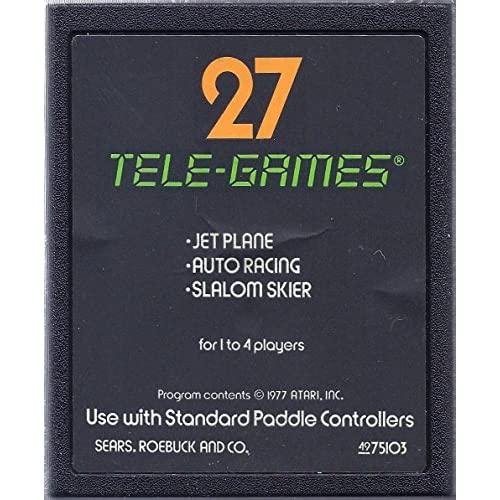 27 Tele-Games Including Jet Plane-Auto Racing-Slalom Skier For Atari Vintage