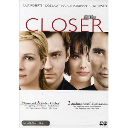 Image 0 of Closer Superbit Edition On DVD with Jude Law Romance