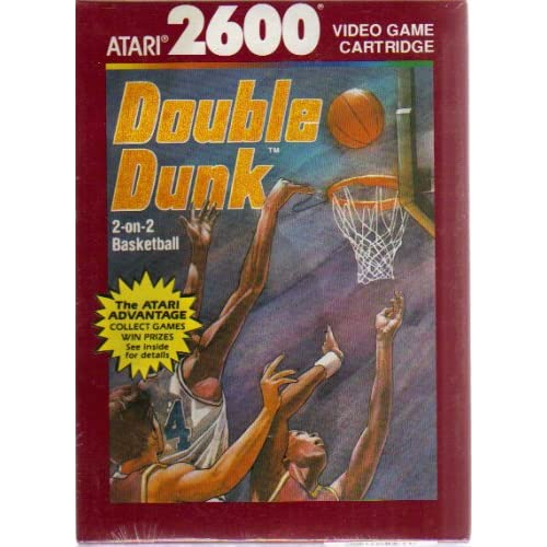 2600: Double DUNK--2-ON-2 Basketball Video Game Cartridge For Atari Vintage