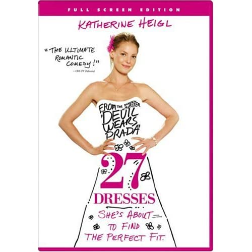 Image 0 of 27 Dresses Full Screen Edition On DVD With Katherine Heigl Comedy