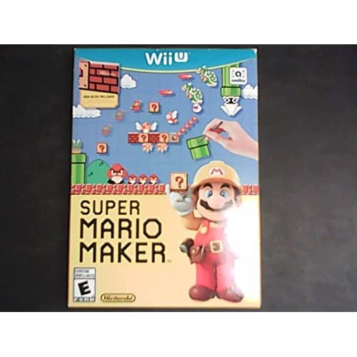 Super Mario Maker For Wii U With Manual And Case