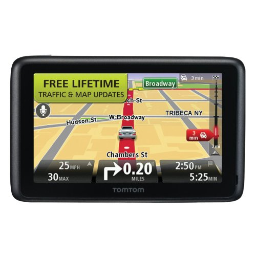 tomtom go 2535tm 5 inch bluetooth gps navigator with lifetime traffic. Black Bedroom Furniture Sets. Home Design Ideas