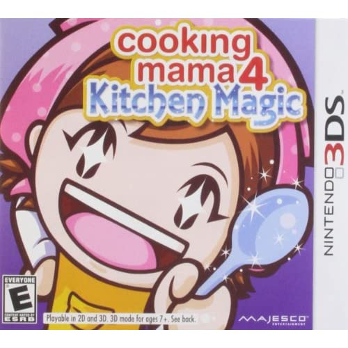 Cooking Mama 4: Kitchen Magic Nintendo For 3DS RPG With Manual and Case
