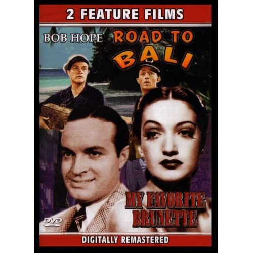 Image 0 of Bob Hope Double Feature Road To Bali & My Favorette Brunette On DVD With Humphre