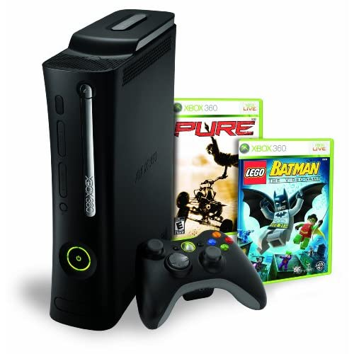 Xbox 360 Elite 120GB Bundle W/ Lego Batman & Pure Console