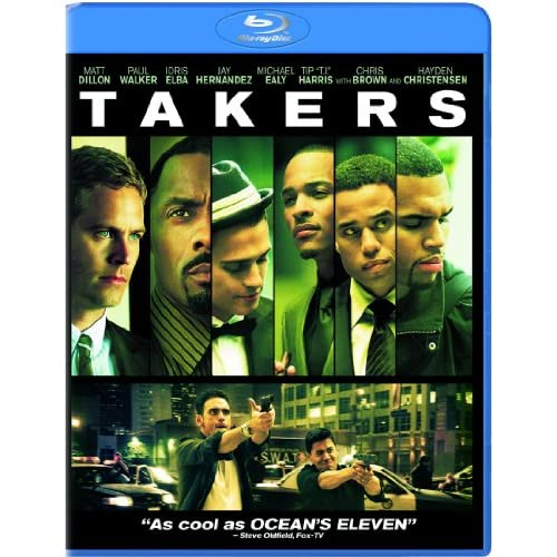 Takers Blu-Ray On Blu-Ray With Paul Walker
