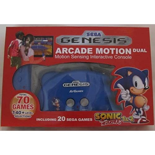 Sega Genesis Arcade Motion Dual Total 70 Games Console Blue Home JEP565