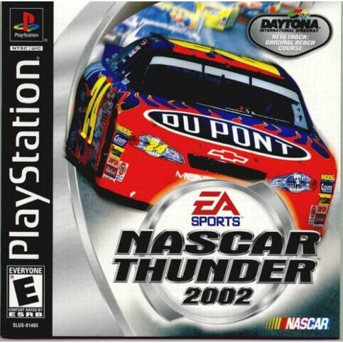 NASCAR Thunder 2002 For PlayStation 1 PS1 Racing