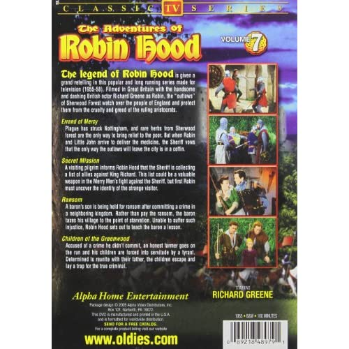 Image 2 of The Adventures Of Robin Hood Vol 7 On DVD With Richard Greene