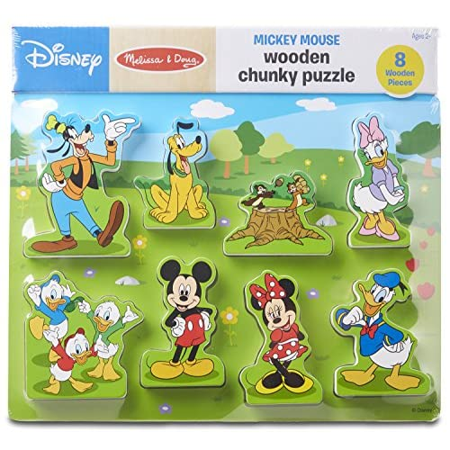 Melissa And Doug Disney Mickey Mouse Clubhouse Wooden Chunky Puzzle 8