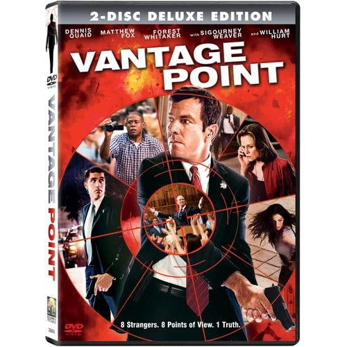 Vantage Point Two-Disc Deluxe Edition On DVD With Dennis Quaid 2 Drama