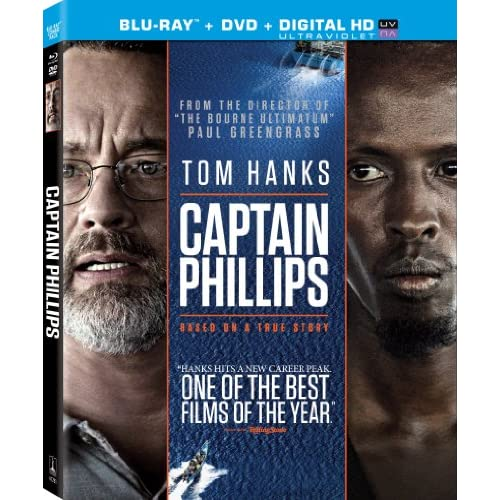 Image 0 of Captain Phillips Two Disc On Blu-Ray With Tom Hanks 2 Thriller