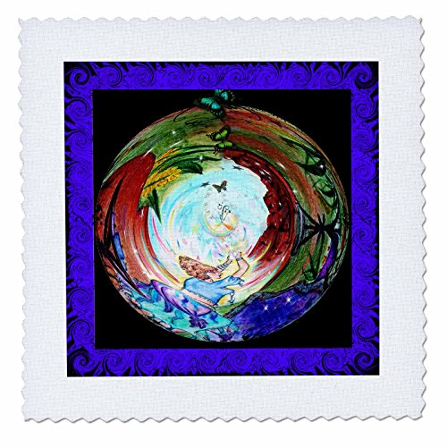 3DROSE Qs 4078 2 Healing Quilt Square 6 By 6
