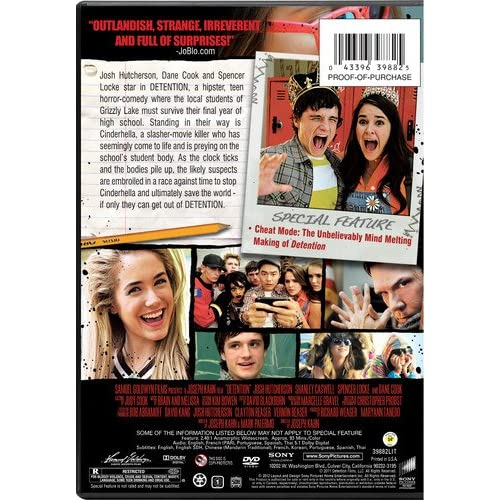 Image 0 of Detention On DVD With Josh Hutcherson Comedy