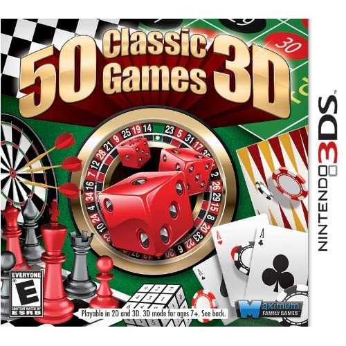 50 Classic Games Nintendo For 3DS Arcade With Manual and Case