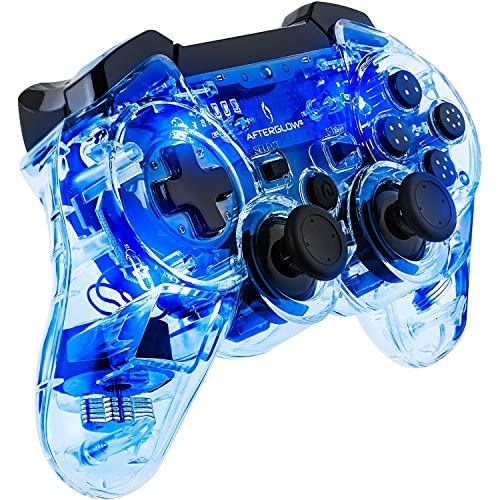 Image 0 of PDP Afterglow Wireless Controller For PS3 Blue For PlayStation 3 Clear Gamepad 0