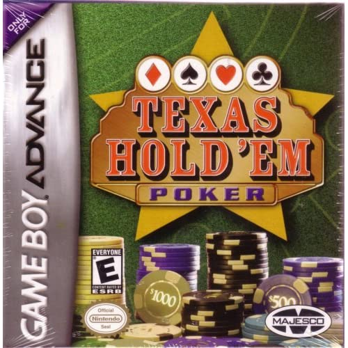 Texas Hold 'Em Poker GBA Action Adventure For GBA Gameboy Advance