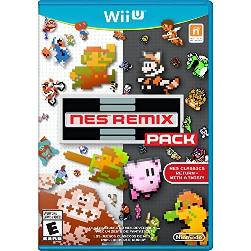 NES Remix Pack For Wii U With Manual and Case
