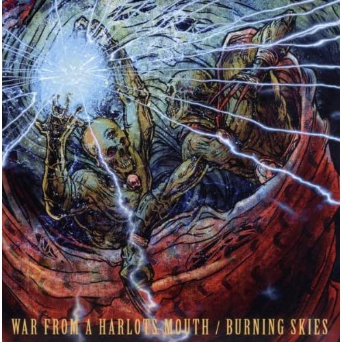 Image 0 of War From A Harlots Mouth / Burning Skies On Vinyl Record By War From A Harlots M