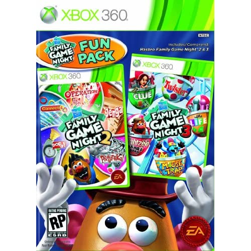 Hasbro Family Game Night Fun Pack Board Games For Xbox 360