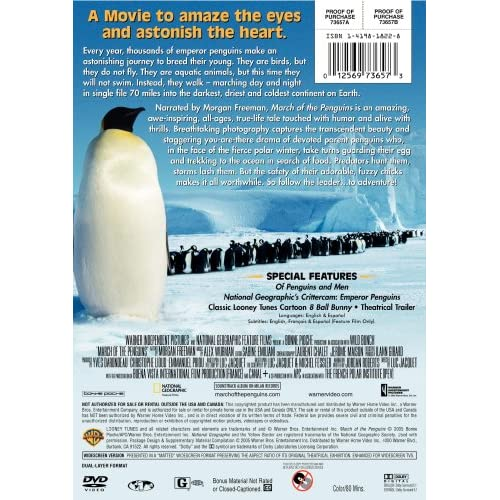 Image 2 of March Of The Penguins Widescreen Edition On DVD with Morgan Freeman