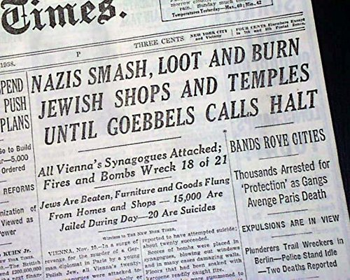 New York Times 11/11/38