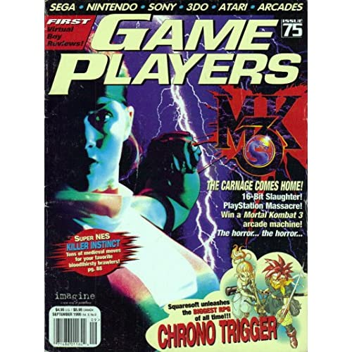 Game Players Magazine Issue 75 September 1995 Vol 8 NO.9 By Chris