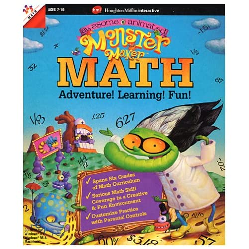 AweSome Animated Monster Maker Math Software