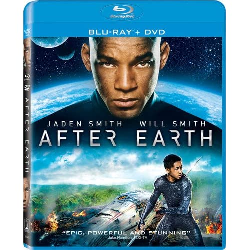 After Earth Blu-Ray DVD Digital HD With Ultra Violet On Blu-Ray With Jaden Smith