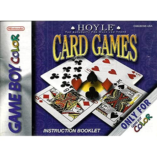 Image 0 of Hoyle Card Games GBC Nintendo Only No Game Pamphlet No Game Included On Gameboy