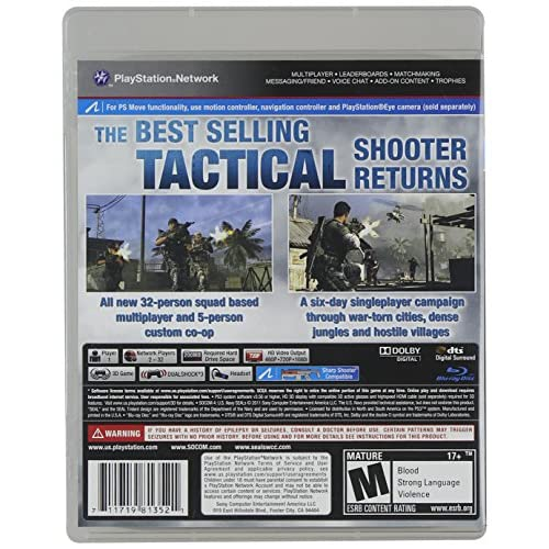 socom 4 us navy seals for playstation 3 ps3 shooter with Socom Game Socom Confrontation Cover