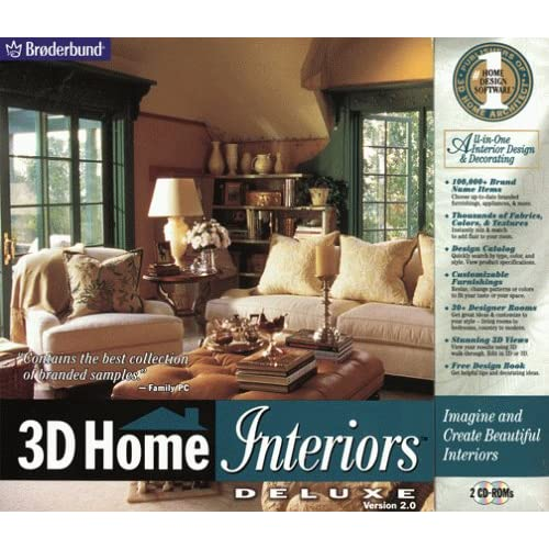 3-D Home Interiors Deluxe 2.0 Software