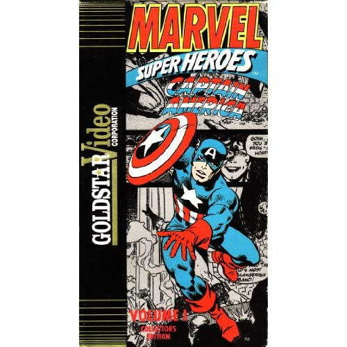 Marvel Super Heroes Captain America Volume 1 Collectors Edition On VHS