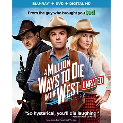 Image 0 of A Million Ways To Die In The West Blu-Ray On Blu-Ray With Seth Macfarlane Comedy