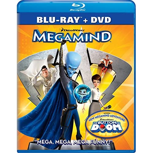 Image 0 of Megamind Two-Disc Blu-Ray/dvd Combo On Blu-Ray With Will Ferrell 2